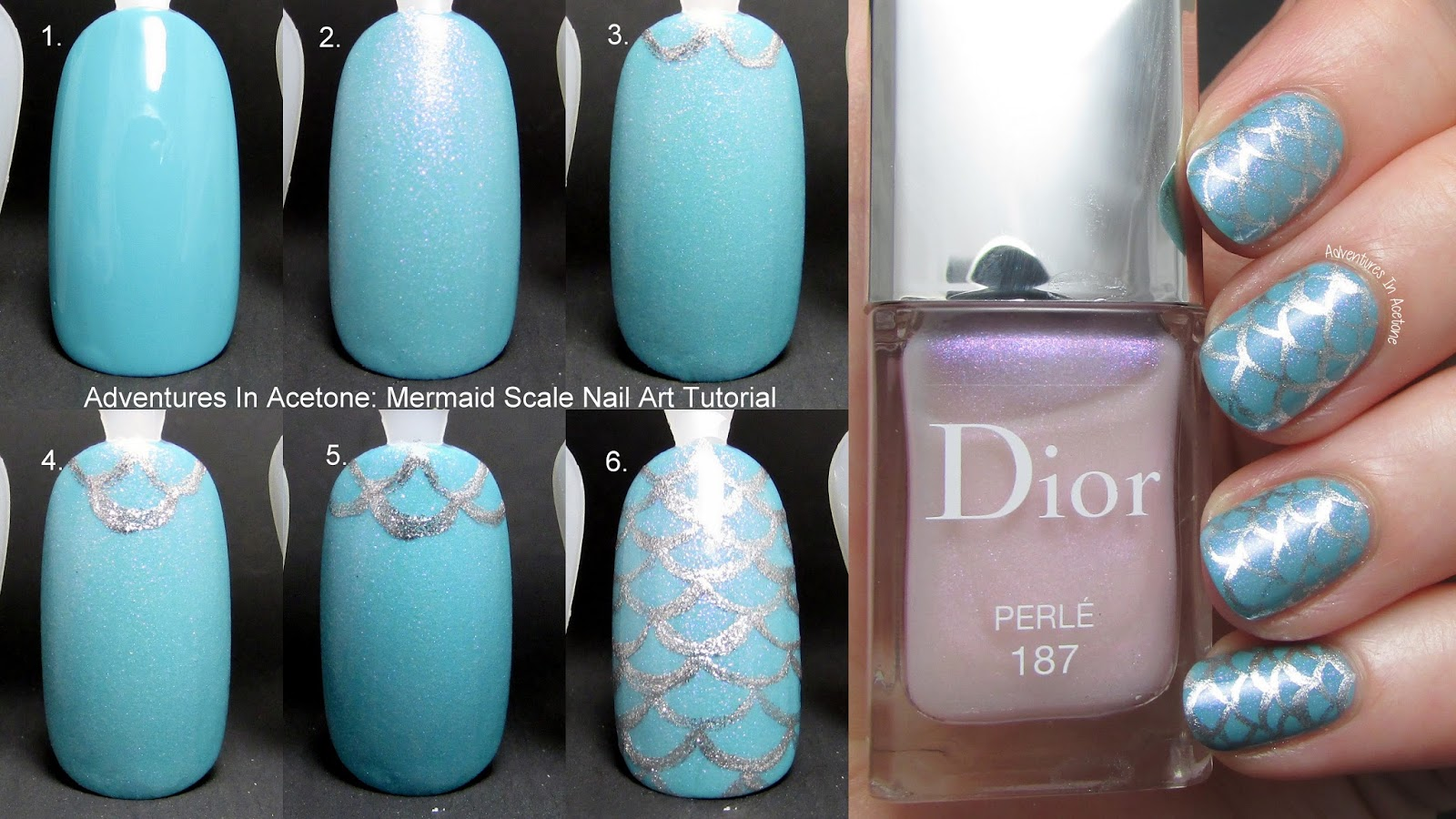 Tutorial tuesday mermaid scale nail art adventures in acetone prinsesfo Choice Image