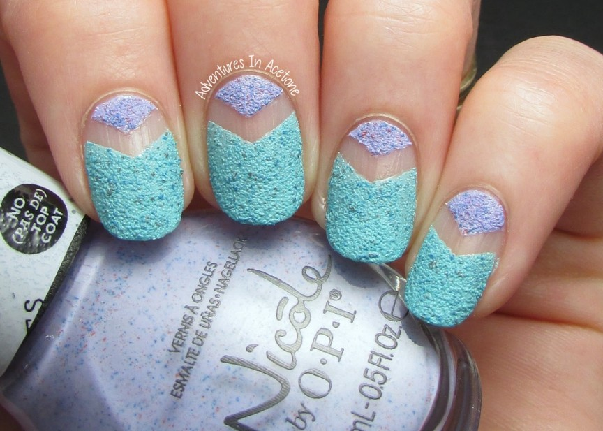 The Lacquer Legion, Adoration: Textured Chevron Tape Mani ...