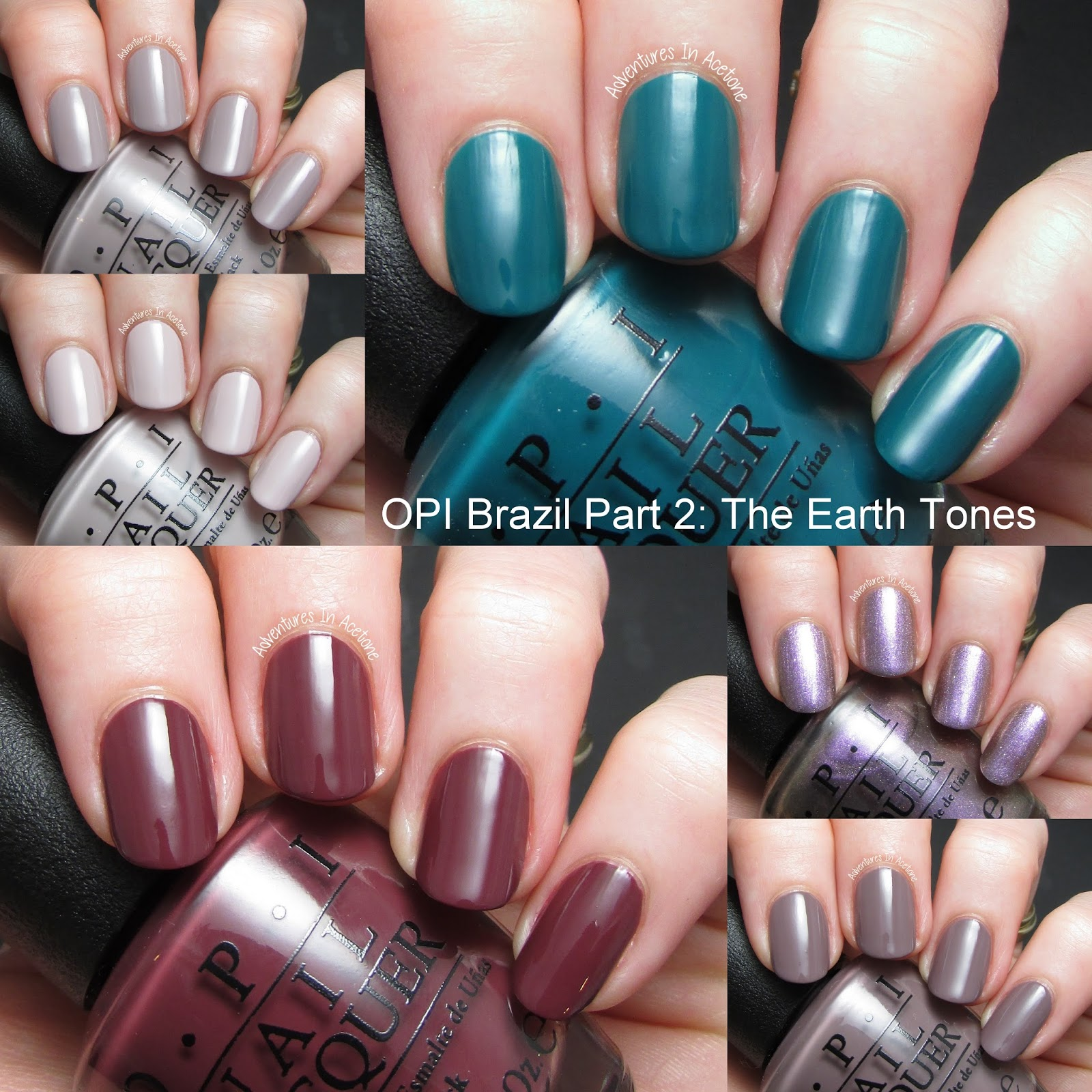 Swatch Satuday: Brazil by OPI Swatches, Part 2: The Earth Tones ...