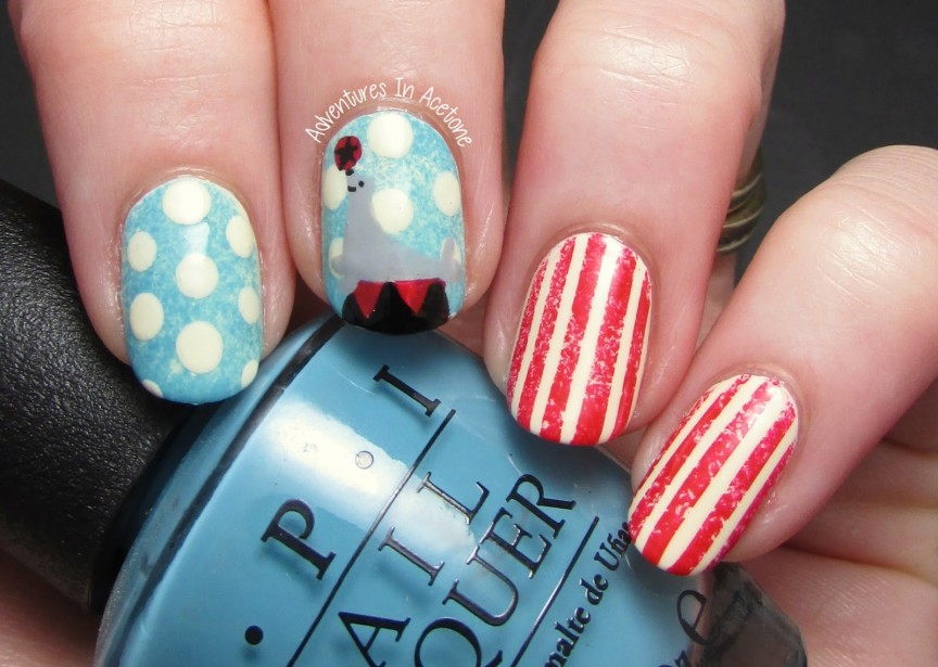 The Digit Al Dozen Does Vintage Day 1 Circus Nail Art