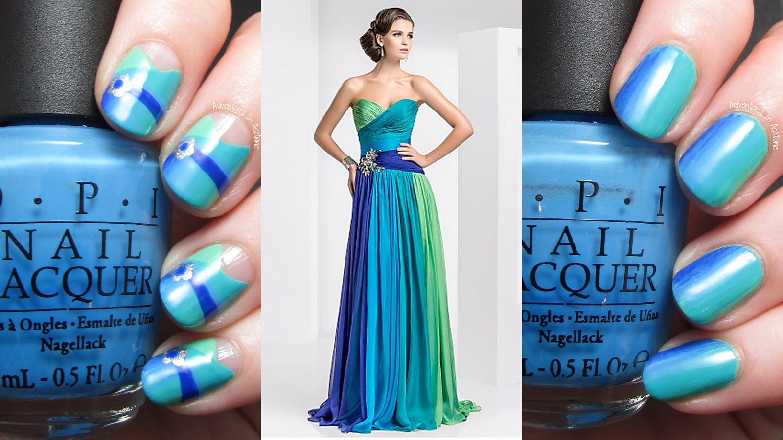 Dress Inspired Nail Art! - Adventures In Acetone