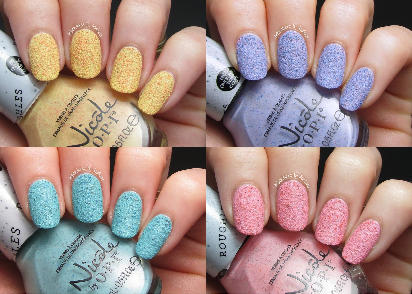 Nicole by OPI Roughles Collection Swatches! - Adventures In Acetone