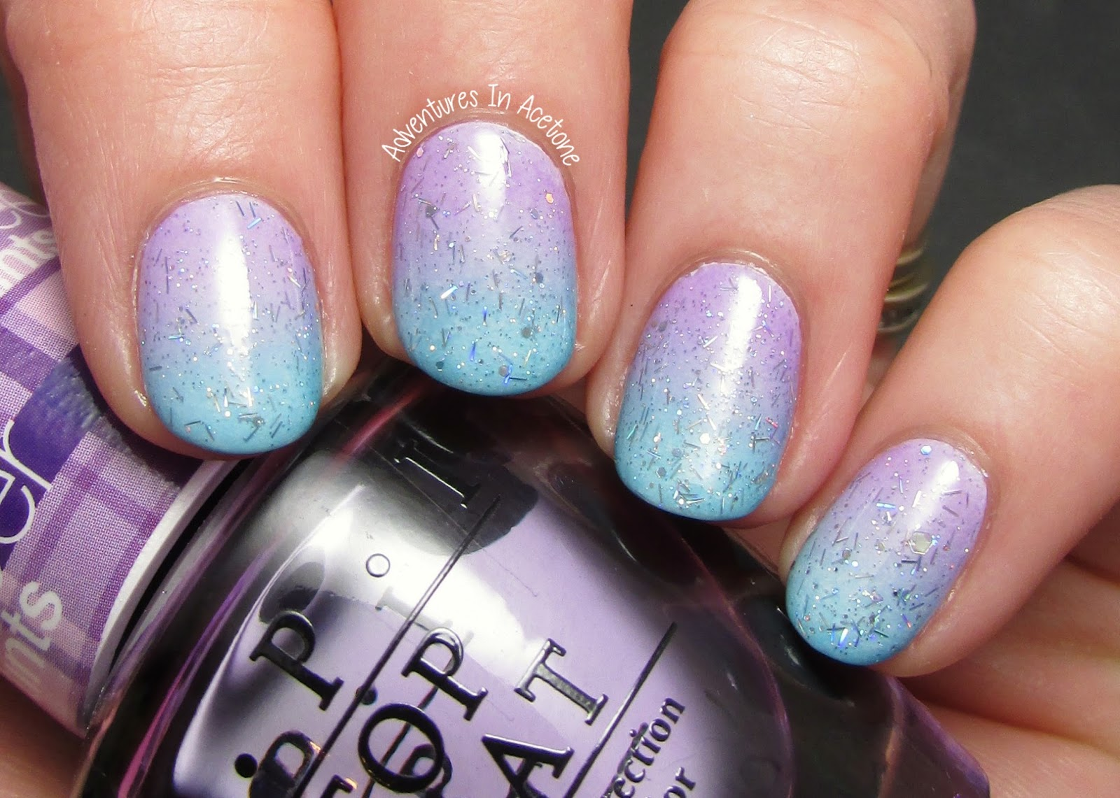 dipped easter egg nail art with opi sheer tints