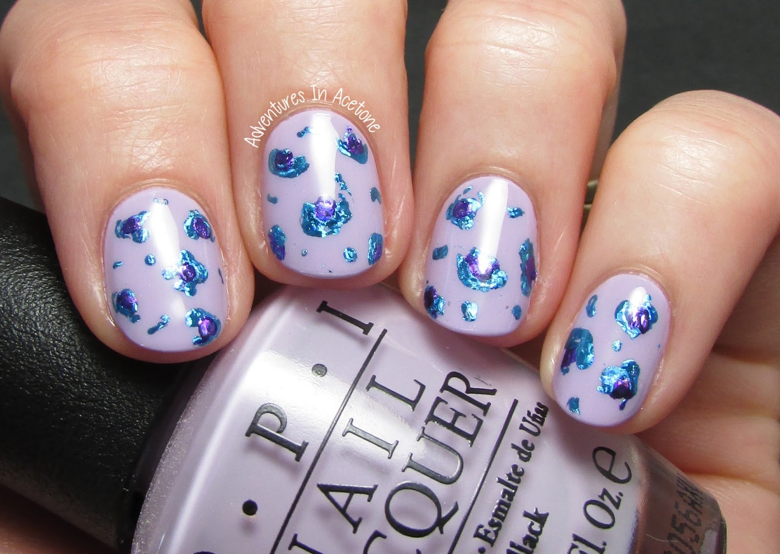 Leopard Nail Art with Foils! - Adventures In Acetone