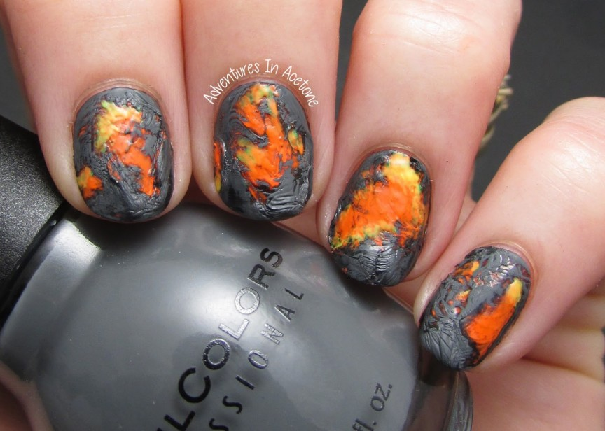 Tutorial tuesday lava flow nail art video tutorial adventures tutorial tuesday lava flow nail art video tutorial adventures in acetone prinsesfo Images