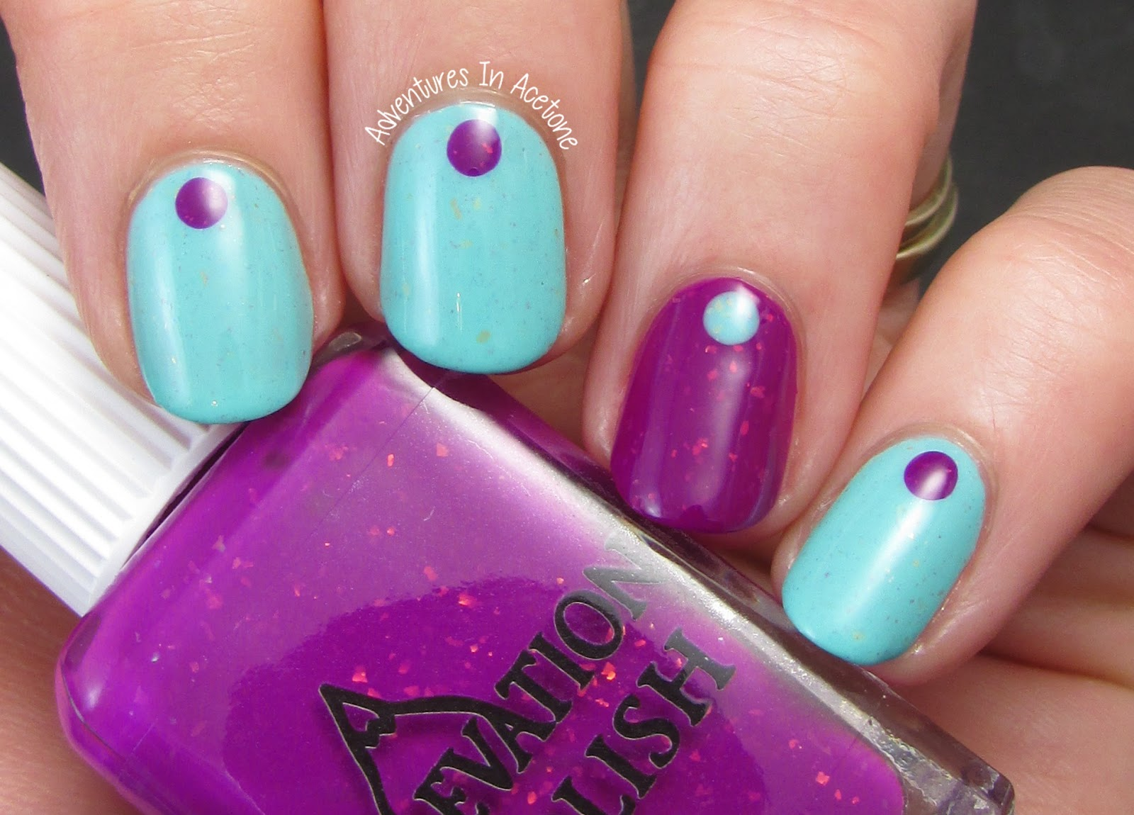 Bold Simple Dot Nail Art With Elevation Polish Adventures In Acetone