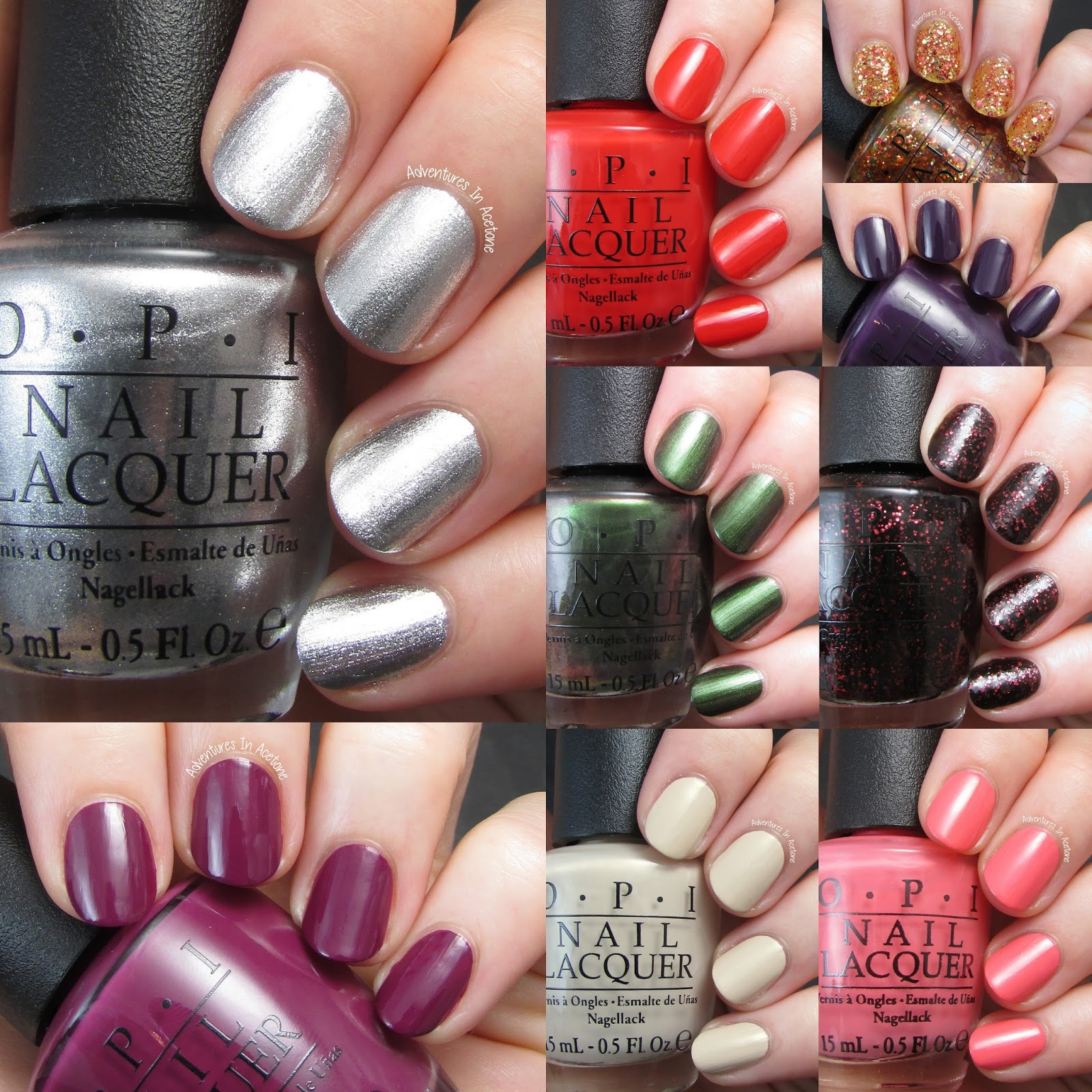 Swatch Saturday: OPI Coca Cola Collection! - Adventures In Acetone