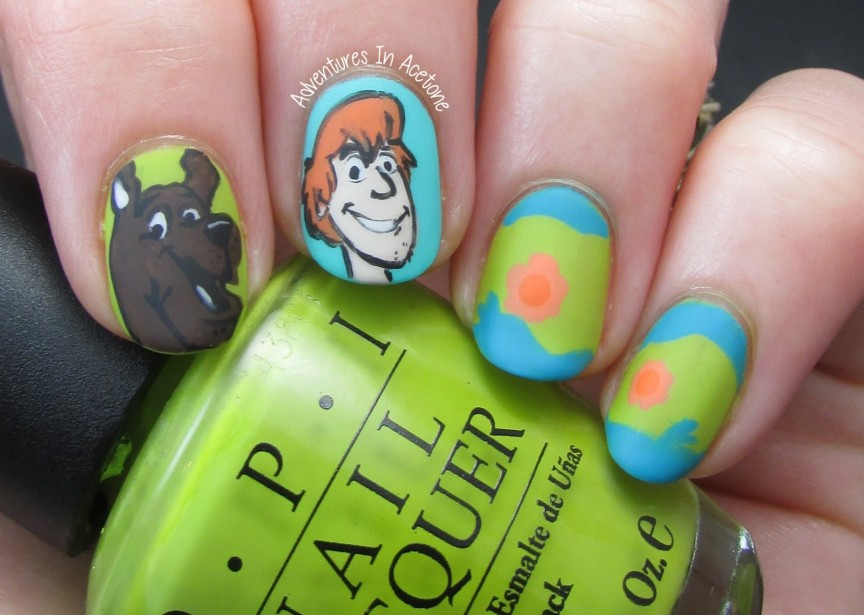 The digit al dozen does decades day 5 scooby doo nail art the digit al dozen does decades day 5 scooby doo nail art adventures in acetone prinsesfo Image collections