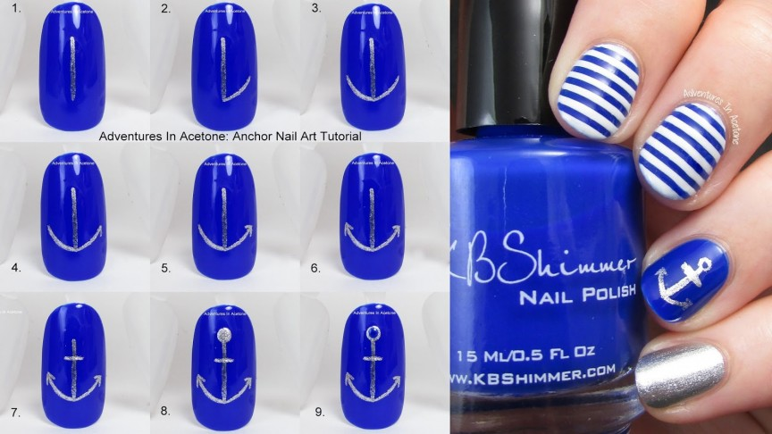 Tutorial tuesday anchor nail art adventures in acetone prinsesfo Gallery