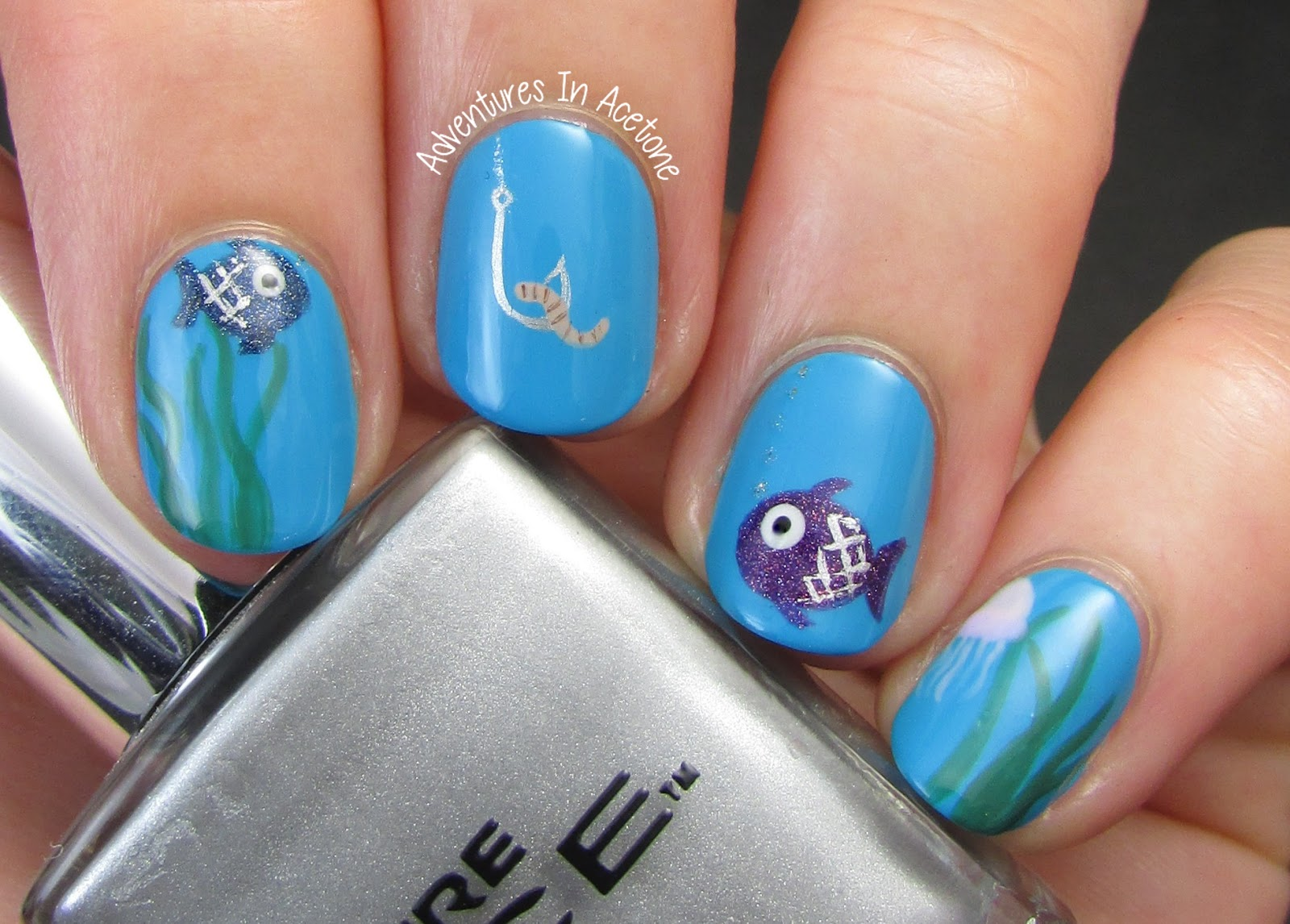 The Digit Al Dozen Does Metal Day 3 Fishing Nail Art Adventures In Acetone