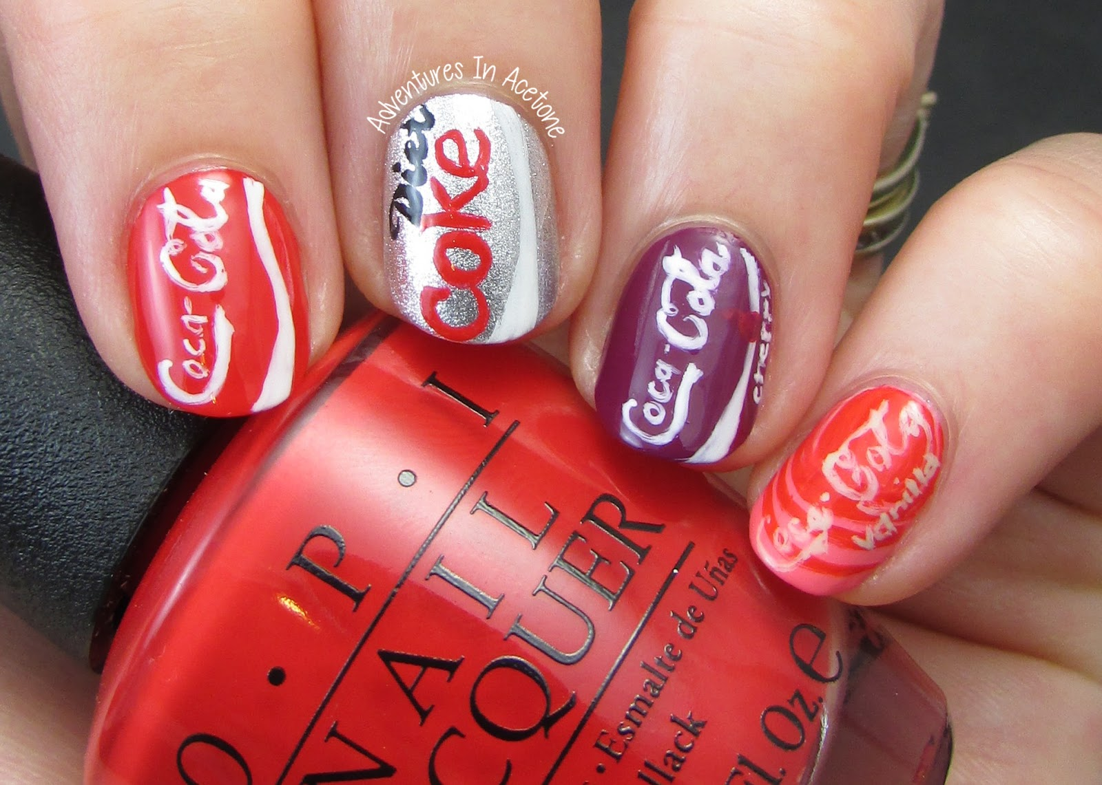 The digit al dozen does metal day 4 coca cola cans adventures there were a lot of comments on this new opi collection about the colors not coordinating with soda especially the pink creme for vanilla coke called sorry prinsesfo Gallery