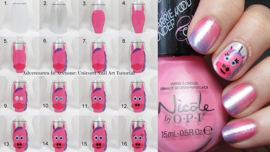 Tutorial Tuesday: Unicorn Nail Art! - Adventures In Acetone