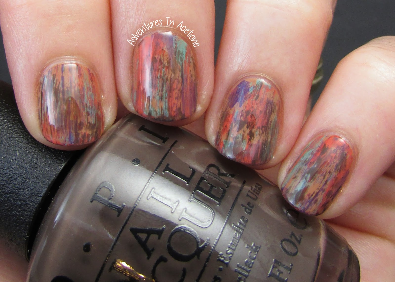 Distressed Nail Art With Opi Nordic Collection Adventures In Acetone