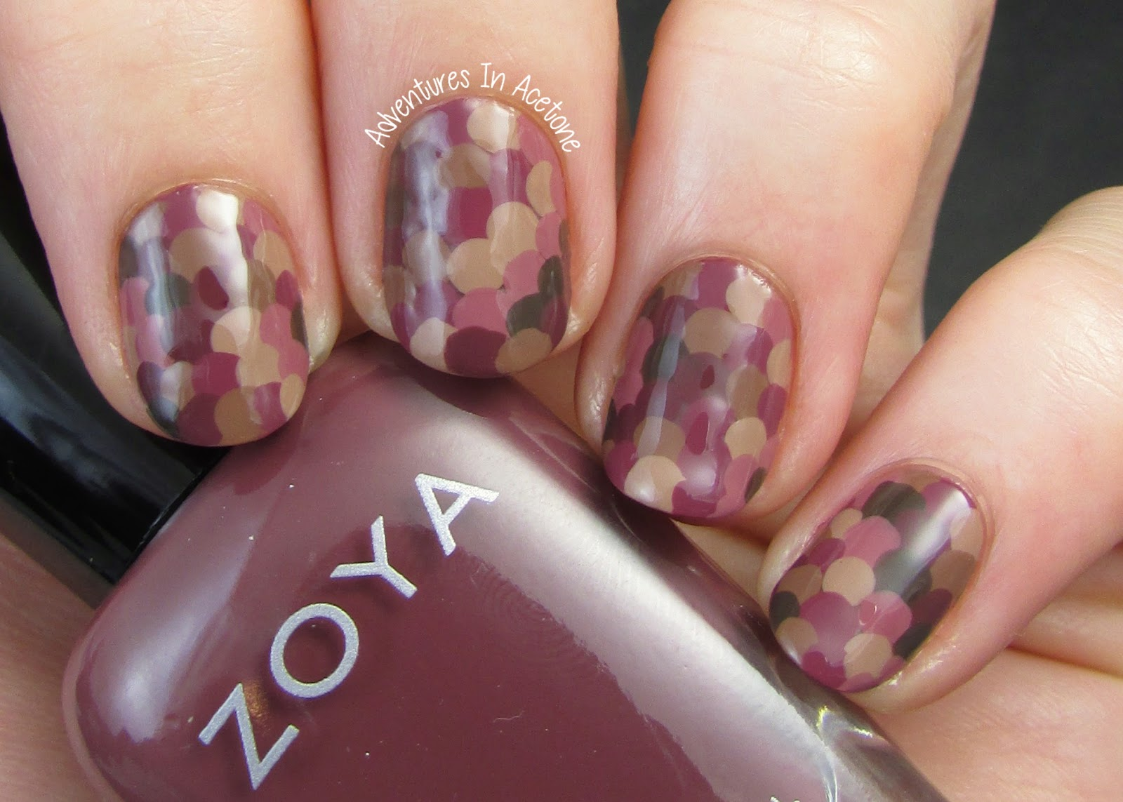 Dot Nail Art with Zoya Naturel Deux! - Adventures In Acetone