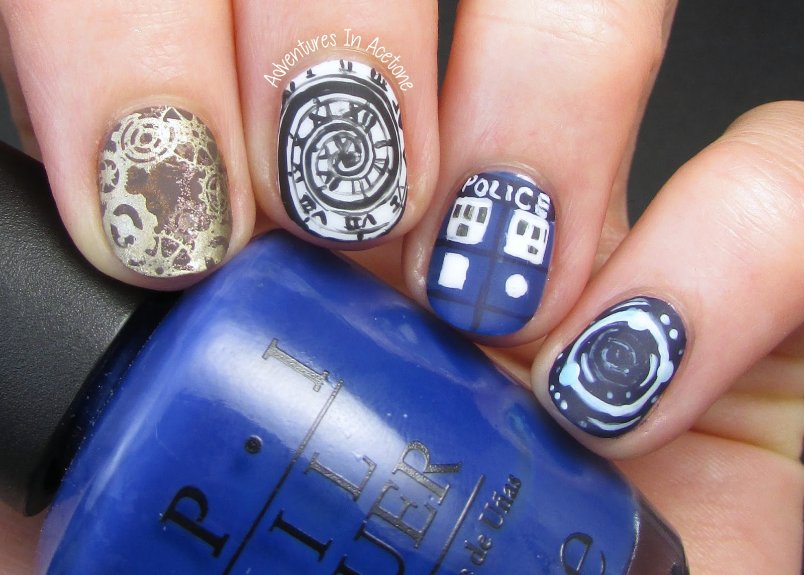 Doctor who nail art time for twelve adventures in acetone unfortunately if you arent a whovian you probably have no idea whats on my nails right now and for that i dont apologize prinsesfo Gallery
