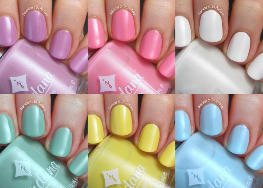 Swatch Saturday: Jordana Playful Pastels - Adventures In Acetone