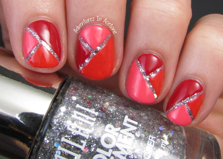 Color block nail art with milani color statement adventures in color block nail art with milani color statement adventures in acetone prinsesfo Image collections