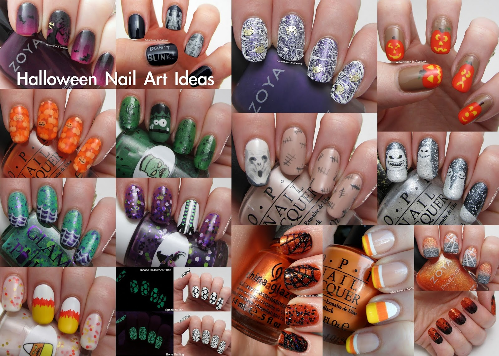 Halloween Nail Idea Roundup! - Adventures In Acetone