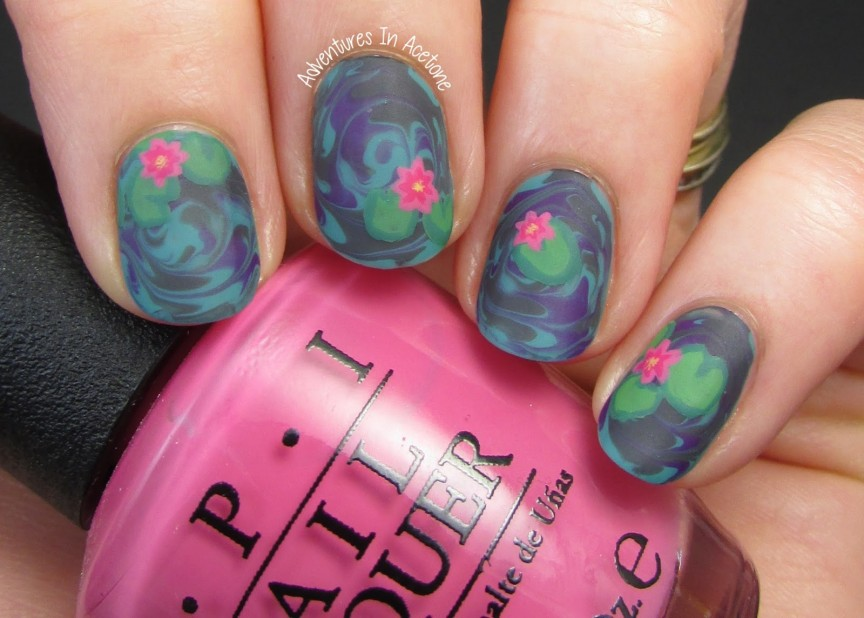 The Digit Al Dozen Does Fl Day 1 Water Lily Nail Art