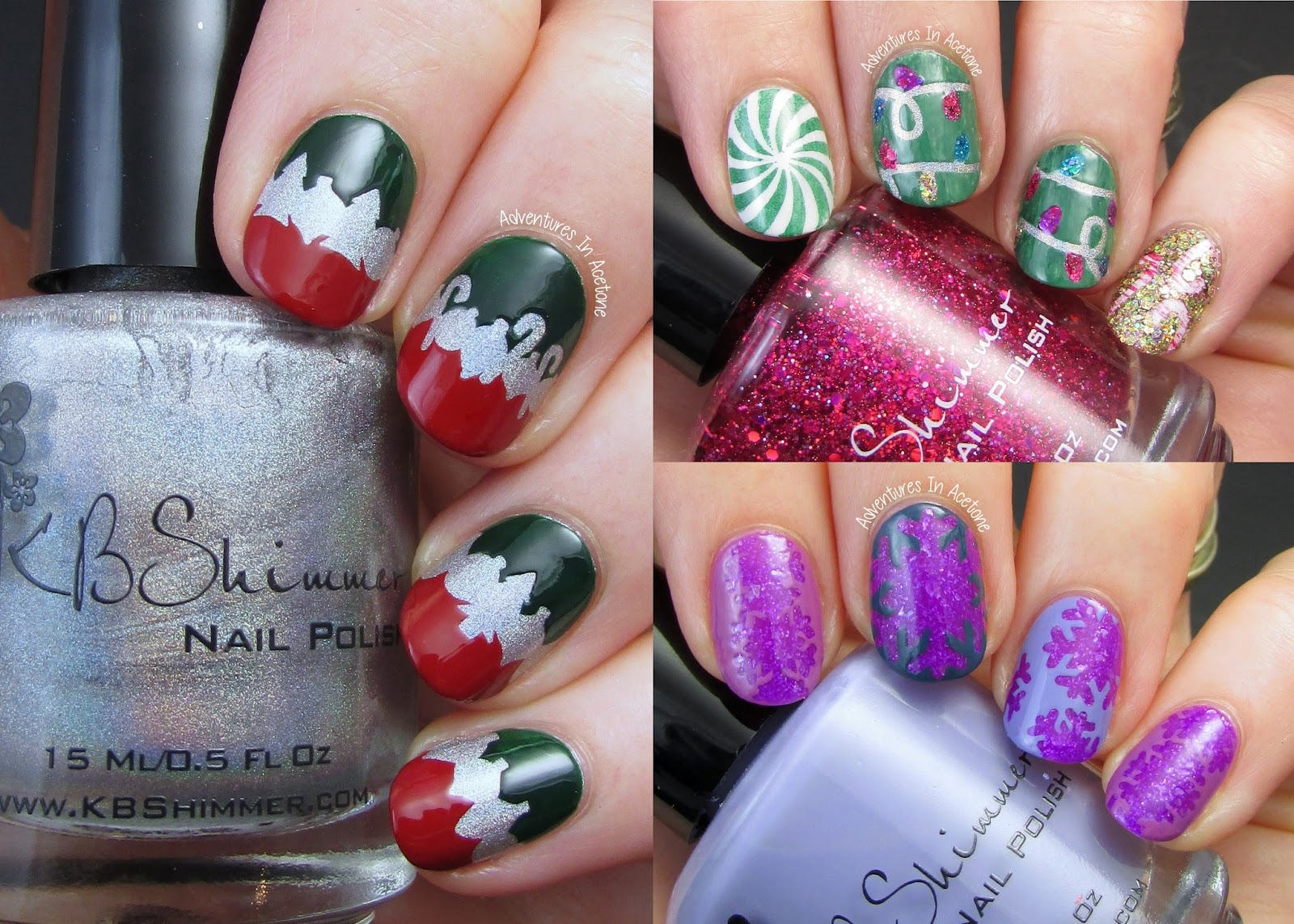 KBShimmer Winter Holiday Vinyl Nail Art! - Adventures In Acetone
