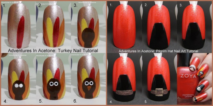 Tutorial Tuesday Flashback To Thanksgiving Nail Art Tutorials