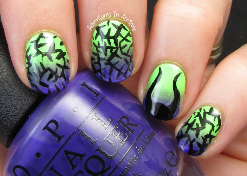 The Digit Al Dozen Does Fairy Tales Day 2 Maleficent Nail