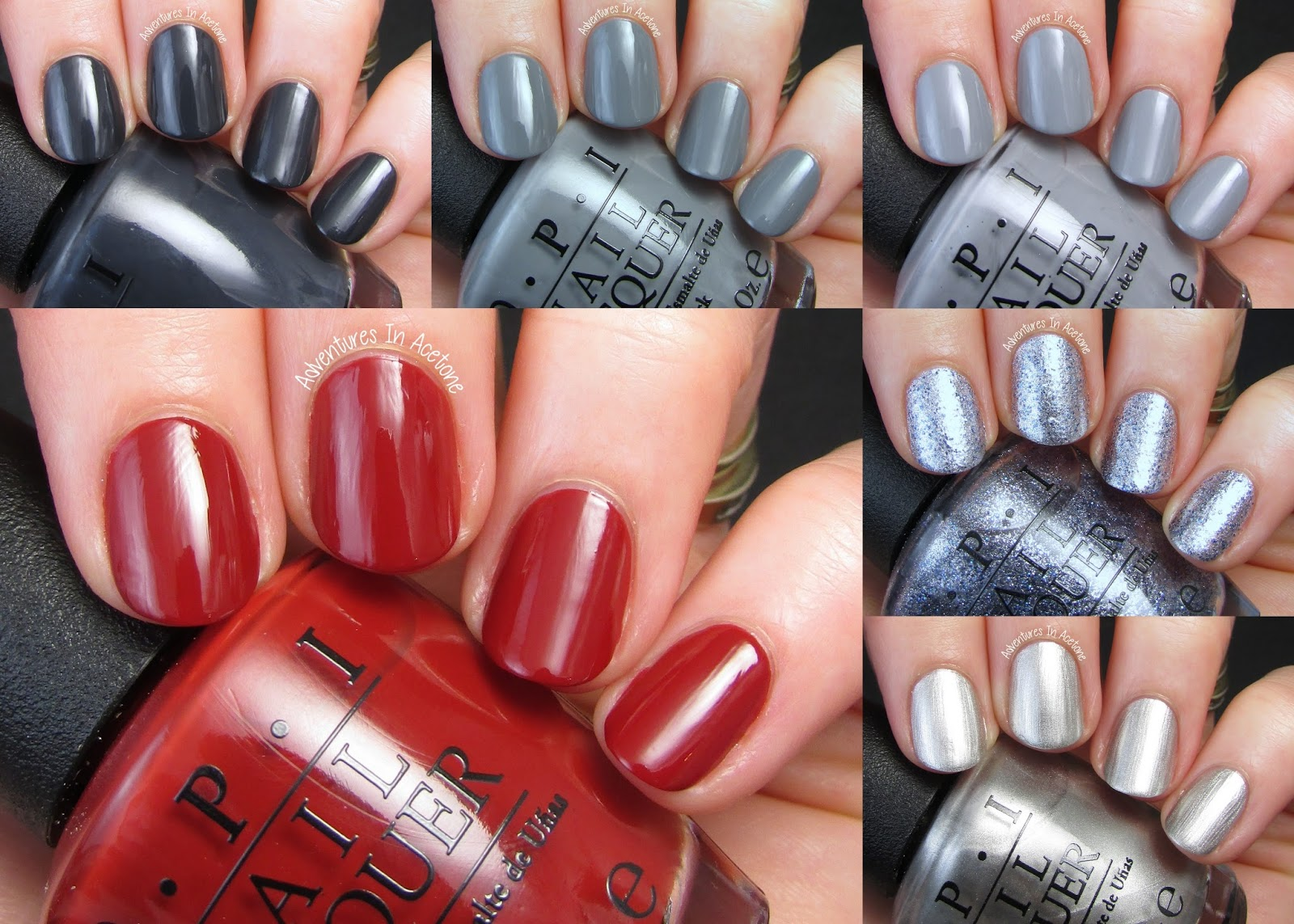 Swatch Saturday: OPI Fifty Shades of Grey Collection ...