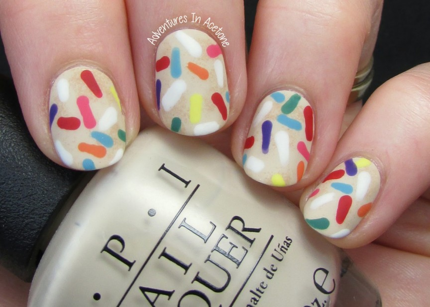 13 Days Of January Day 2 Happiness Sprinkle Cookie Nail Art