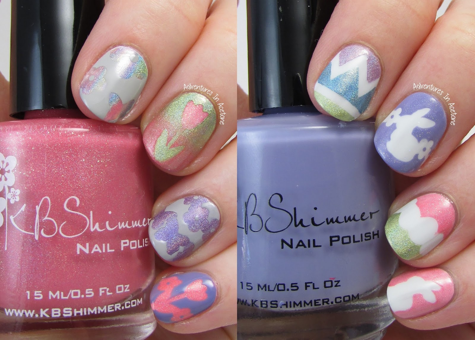 KBShimmer Spring 2015 Nail Vinyls Review! - Adventures In Acetone