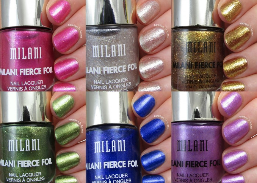 Swatch Sunday: Milani Fierce Foil Collection - Adventures In Acetone