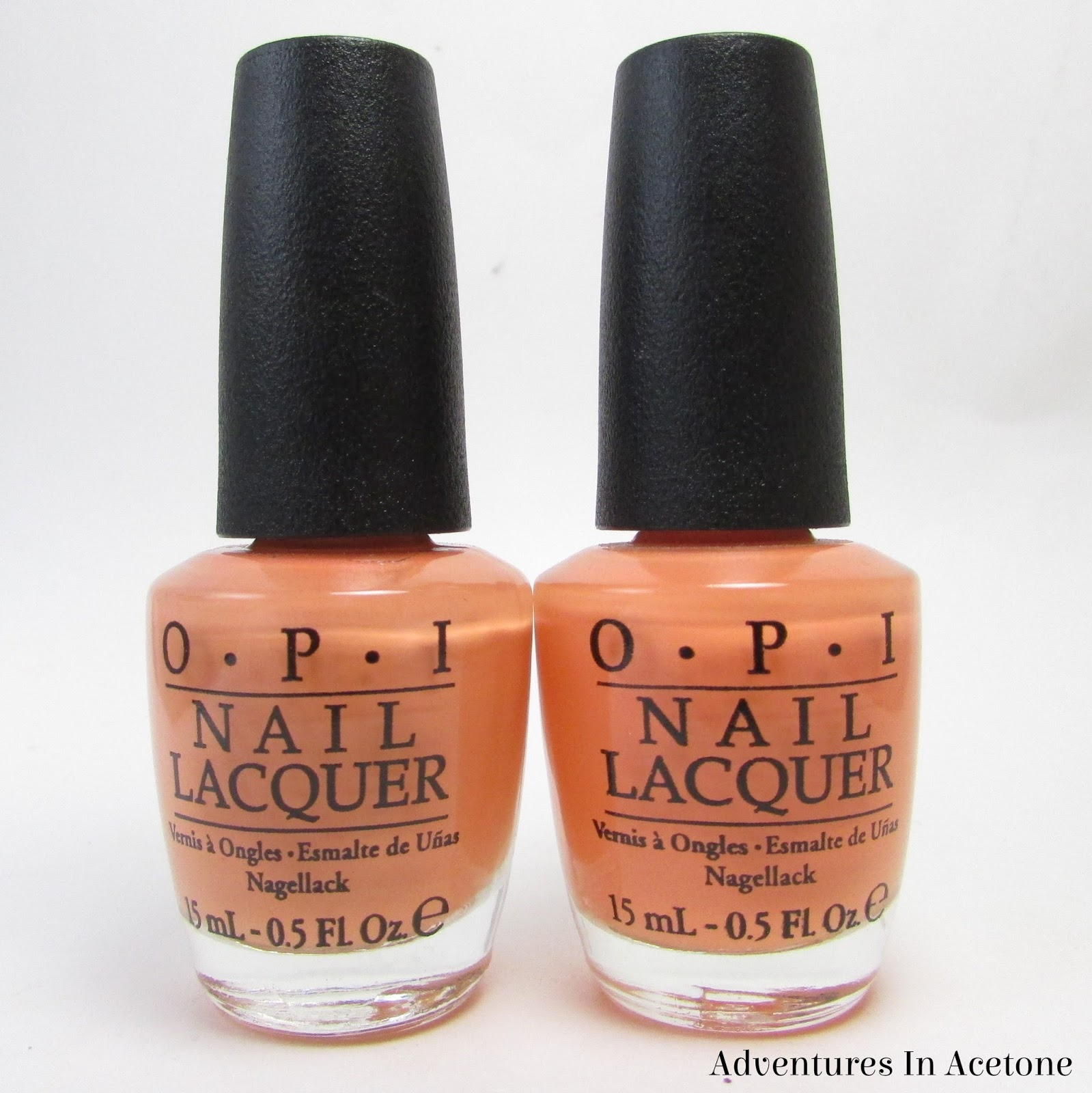 Comparison: OPI Is Mai Tai Crooked vs. OPI Where Did Suzi\'s Man-go ...