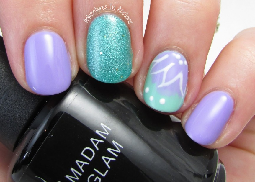 Madam Glam Gel Polish Nail Art! - Adventures In Acetone