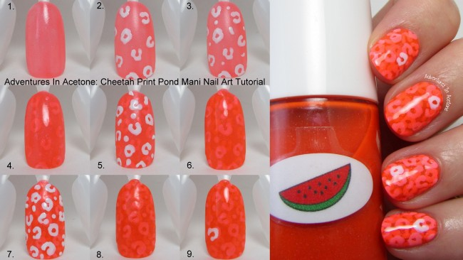 Cheetah Print Pond Mani Tutorial Main picture Collage