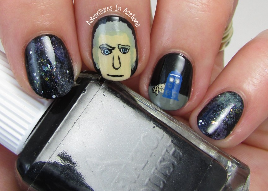 Doctor Who Peter Capaldi Nail Art 2