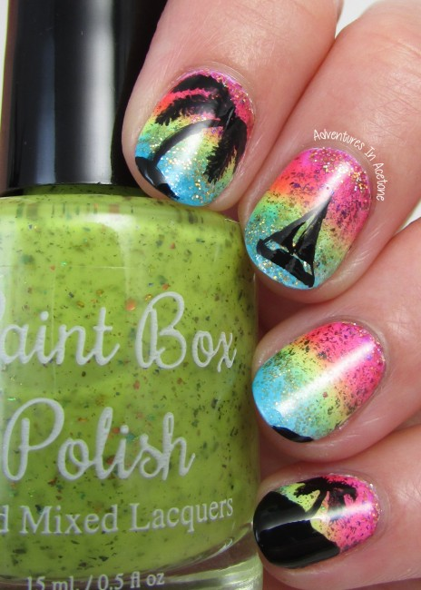 Paint Box Polish North Shore Collection Sunset Nail Art 2