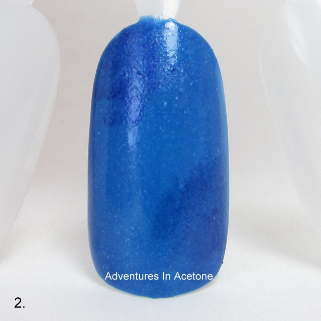 Patriotic Galaxy Nail Art Tutorial step 2