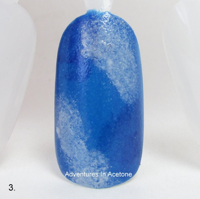 Patriotic Galaxy Nail Art Tutorial step 3