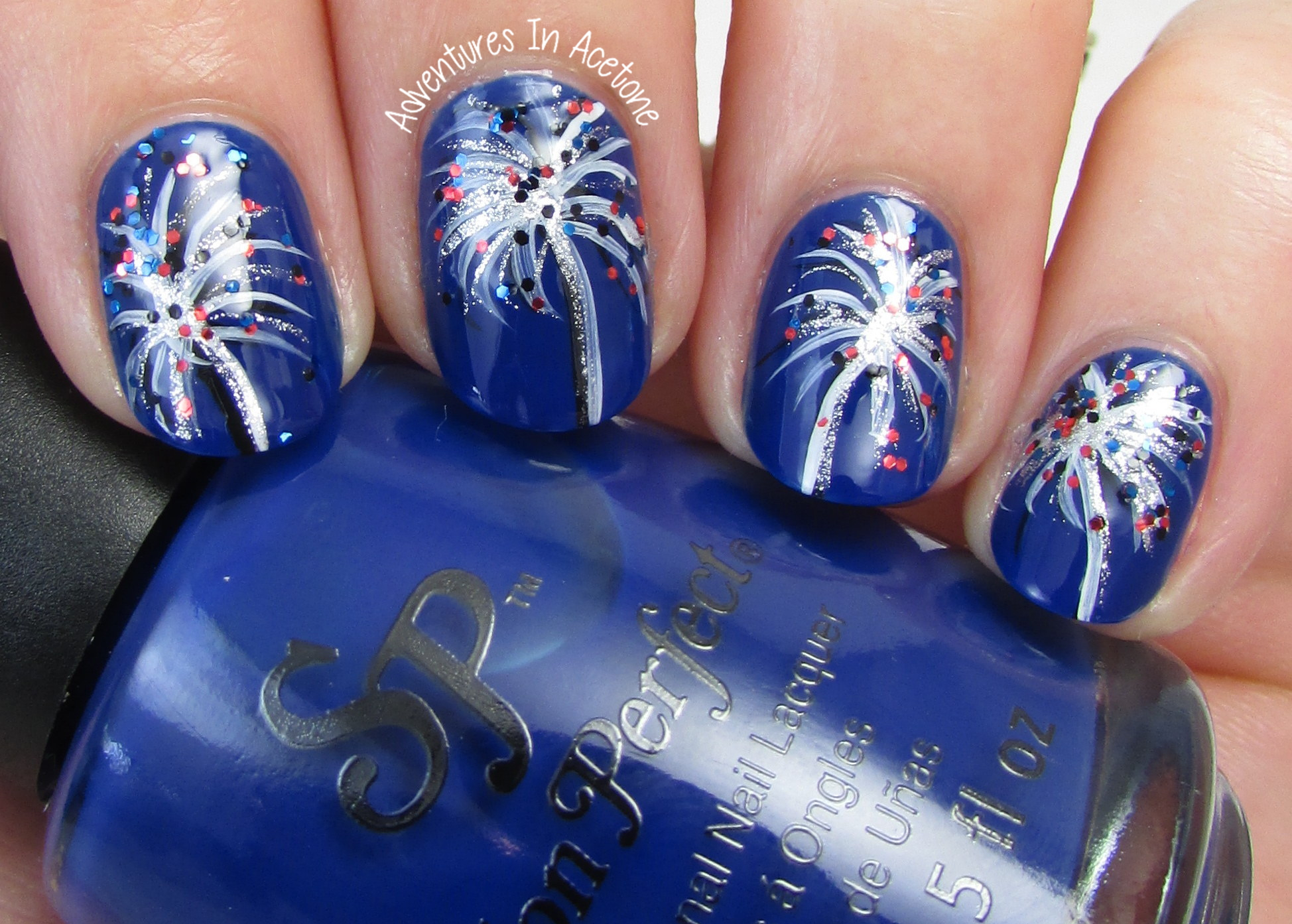 Fourth of july nail art ideas with salon perfect rockin the red fireworks nail art with salon perfect 1 prinsesfo Gallery