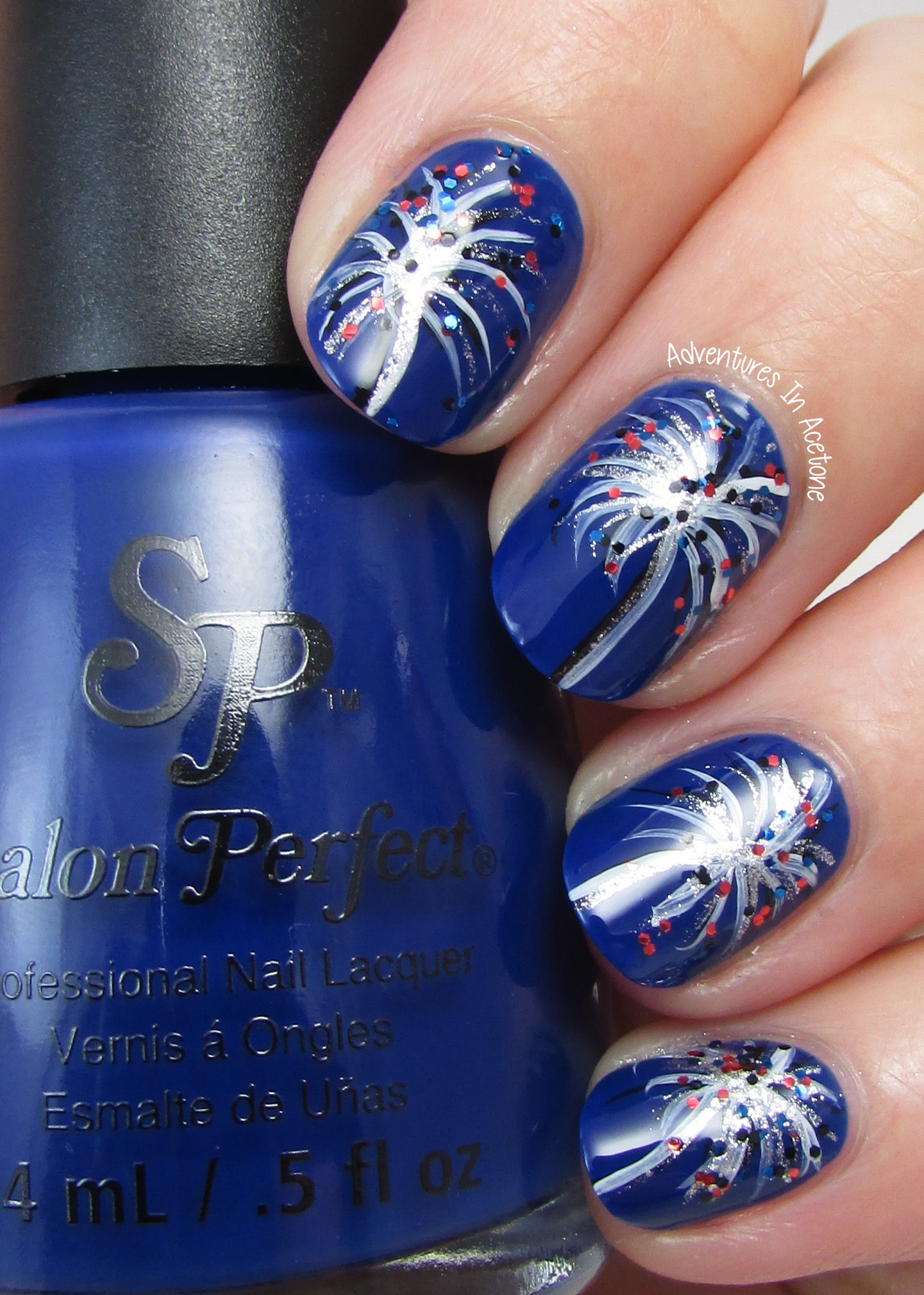 Fourth of july nail art ideas with salon perfect rockin the red fireworks nail art with salon perfect 2 prinsesfo Gallery