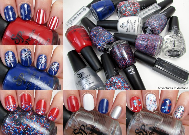 Fourth of July Nail Art Ideas with the Salon Perfect Rockin' The Red, White, and Blue Collection