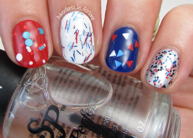 Salon Perfect Rockin' The Red, White, and Blue Collection Glitter Skittles 1