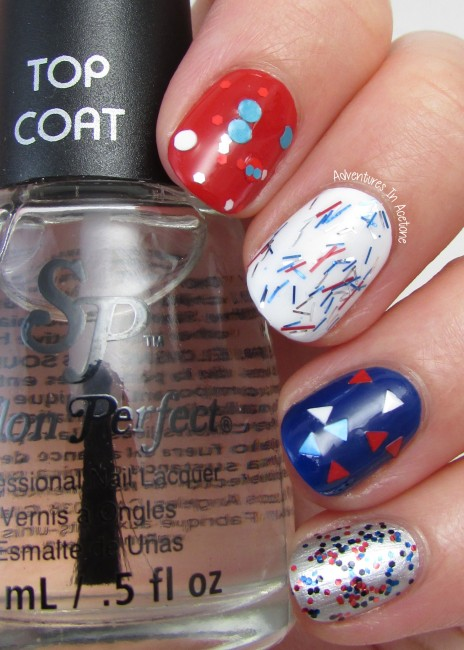 Salon Perfect Rockin' The Red, White, and Blue Collection Glitter Skittles 2
