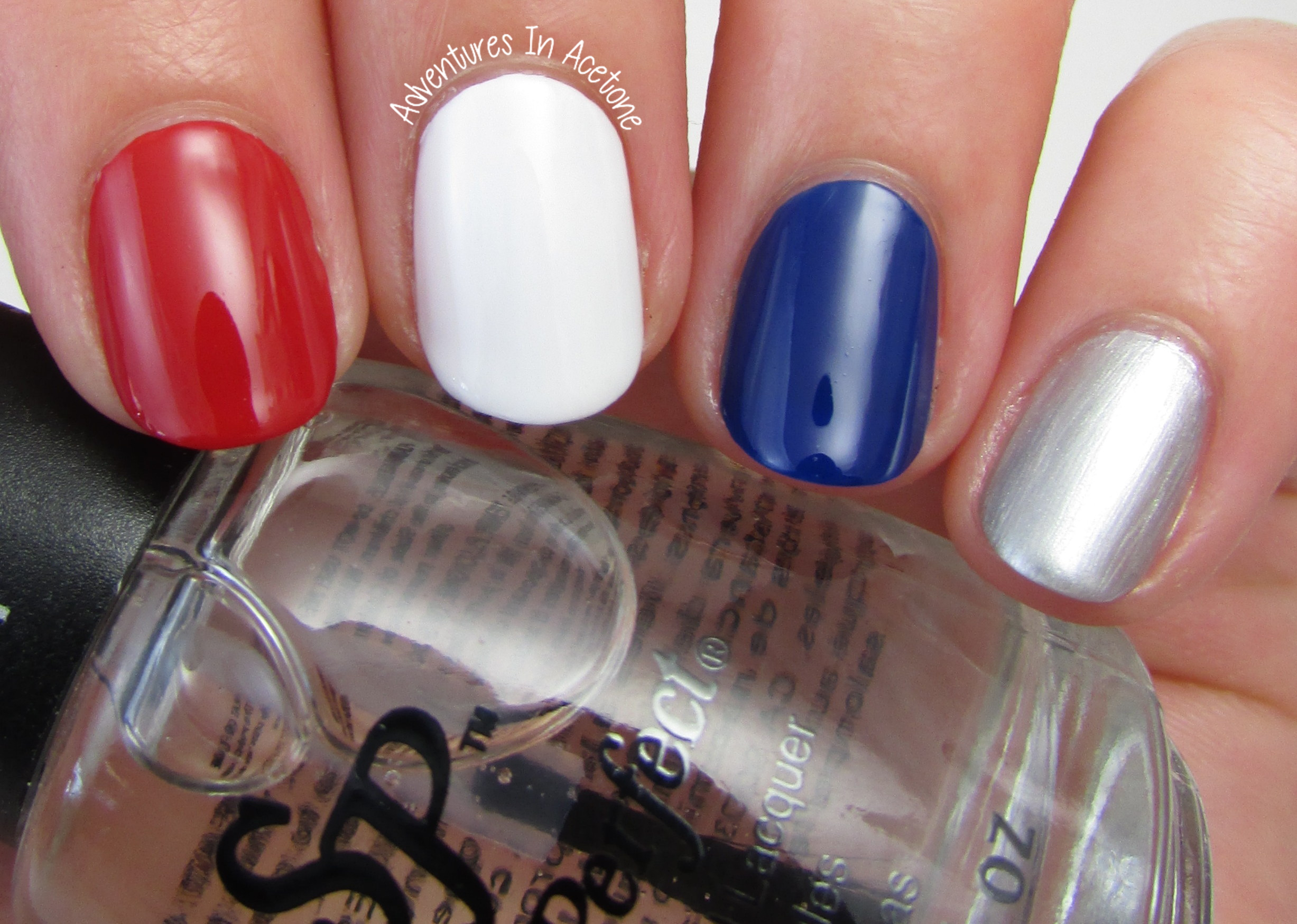 fourth of july nail art ideas with salon perfect rockin' the red