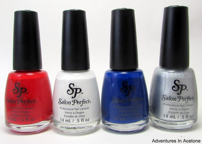 Salon Perfect Rockin' The Red, White, and Blue Collection bottles 1