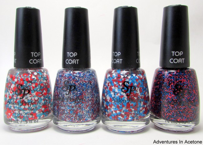Salon Perfect Rockin' The Red, White, and Blue Collection bottles 2