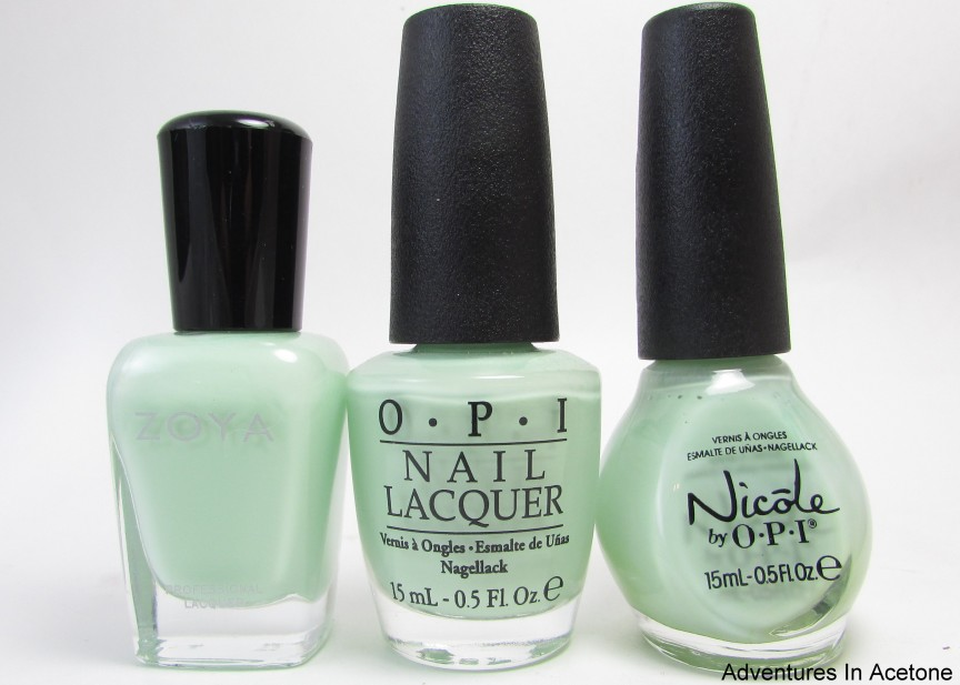 Comparison: Zoya Tiana, OPI That\'s Hula-rious!, and Nicole by OPI I ...