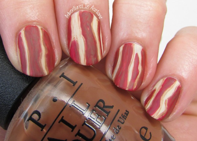 Bacon Nail Art 1