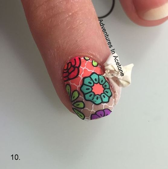 Double Stamping Floral Decals Tutorial Step 10