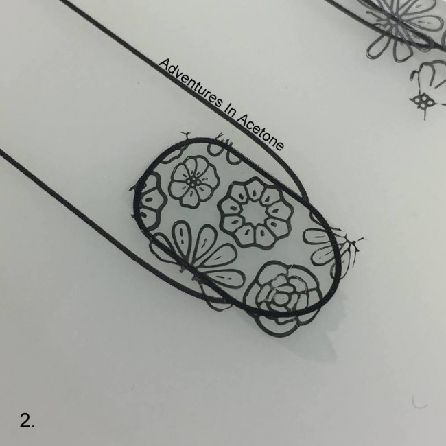 Double Stamping Floral Decals Tutorial Step 2