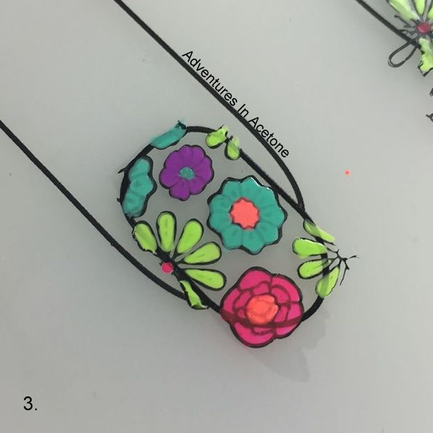 Double Stamping Floral Decals Tutorial Step 3